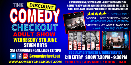 Comedy Night at Seven Arts Leeds - Wednesday 9th June tickets