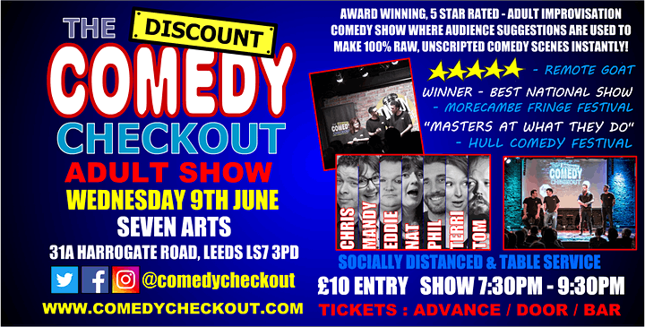 Comedy Night at Seven Arts Leeds - Wednesday 9th June image