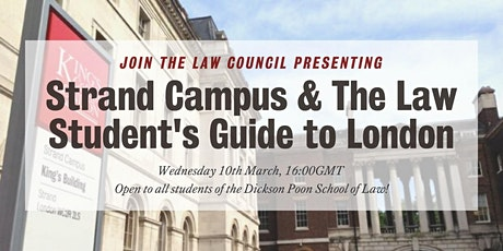 Presenting Strand Campus & The Law Student's Guide to London tickets