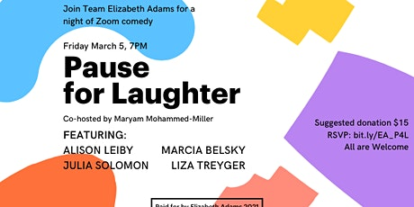 Pause for Laughs: A Virtual Comedy Fundraiser for Elizabeth Adams tickets