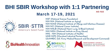 SBIR & Other NonDilutive Funding Workshop with 1:1 Partnering Meetings tickets