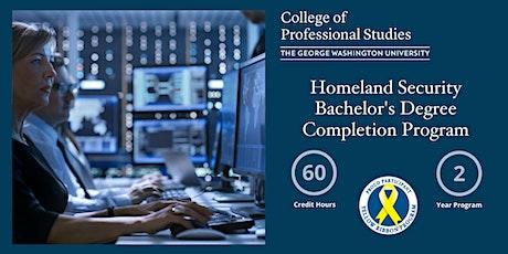 GW's Homeland Security Bachelor's Program - Info Session Tickets