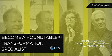 ONLINE: BECOME A ROUNDTABLE™ TRANSFORMATION SPECIALIST! tickets