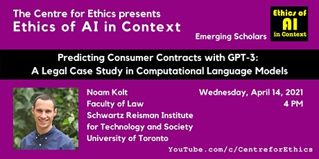 Noam Kolt, Predicting Consumer Contracts with GPT-3 tickets
