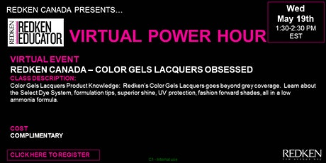 REDKEN CANADA - COLOR GELS LACQUERS OBSESSED tickets