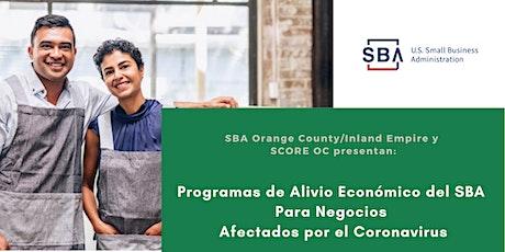 Programas de Alivio Económico del SBA tickets