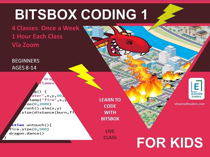 Bitsbox Coding 1 - Beginners Coding for Kids (4 sessions) image