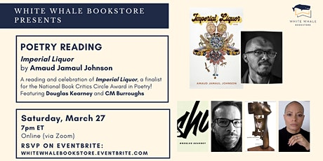 Poetry Reading: Amaud Jamaul Johnson w/ Douglas Kearney & CM Burroughs tickets