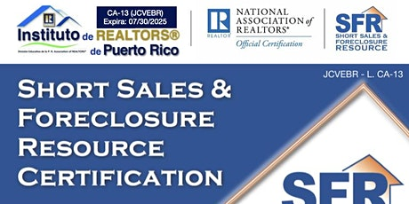 Short Sale and Foreclosure Resource Certification tickets