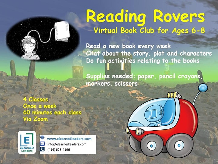 Reading Rovers - Book Club for Ages 6-8 (4 sessions) image