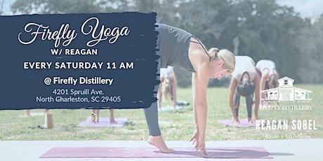 Outdoor Yoga at Firefly Distillery w/ Reagan Sobel tickets