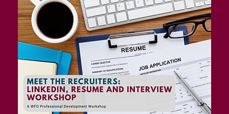Meet the Recruiters: LinkedIn, Resume and Interview Best Practices tickets