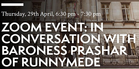 In conversation with Baroness Prashar of Runnymede tickets
