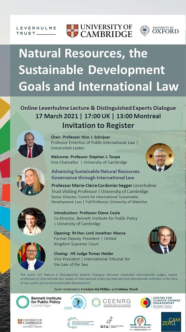 Natural Resources, the Sustainable Development Goals and International Law image