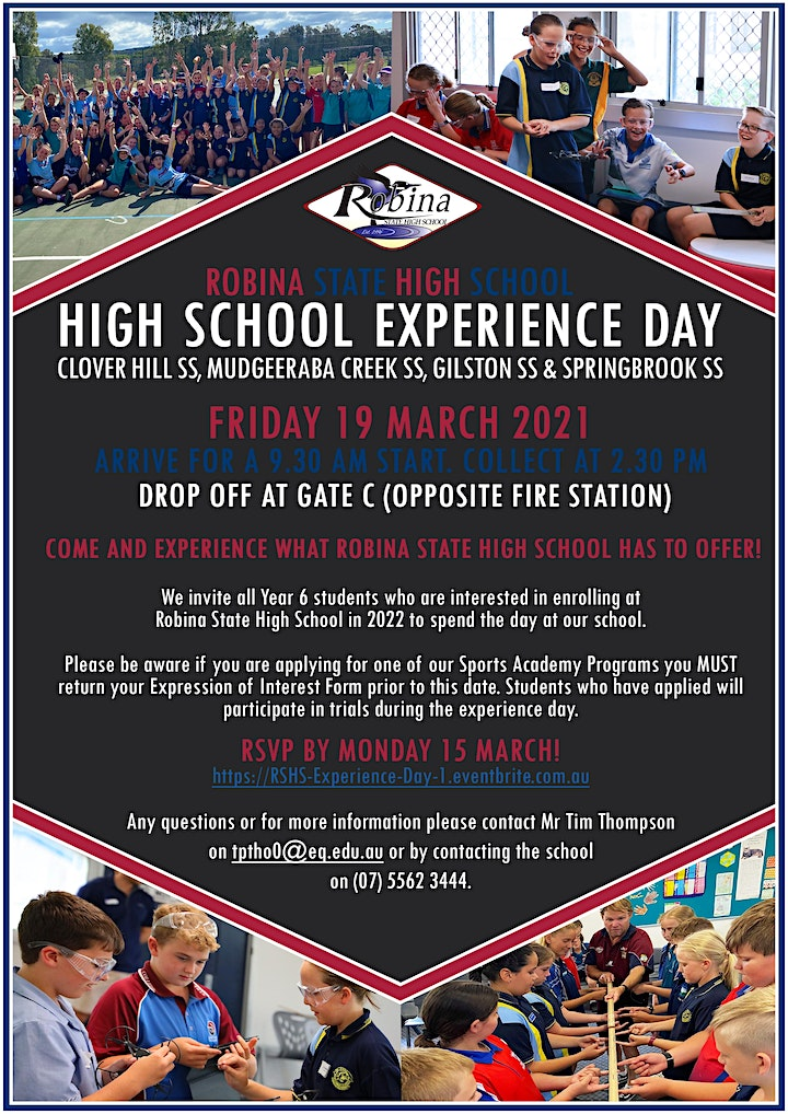 Robina SHS Year 6 High School Experience Day 1 image