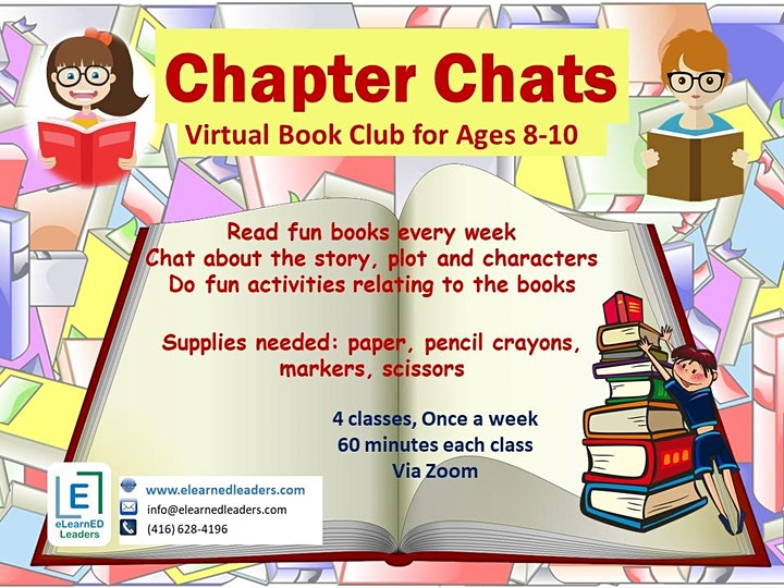 Chapter Chats - Virtual Book Club for Ages 8-10 (4 sessions) image