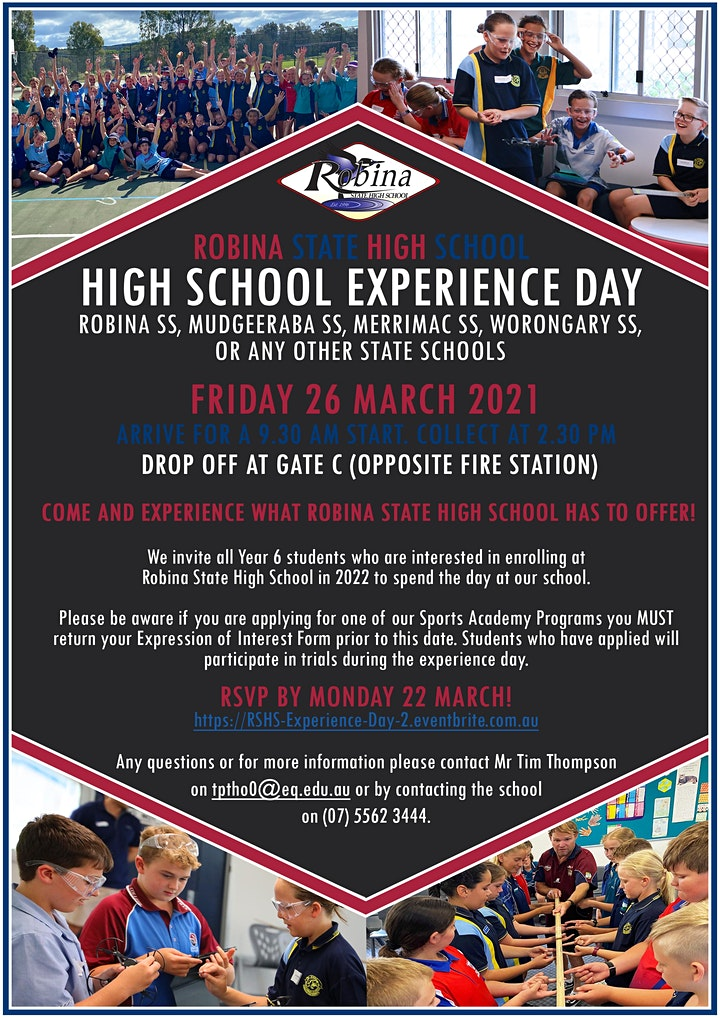 Robina SHS Year 6 High School Experience Day 2 image