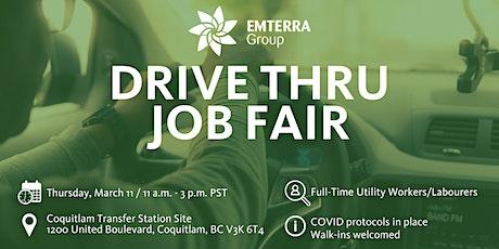 Drive Thru Job Fair: Now Hiring Utility Workers/General Labourers tickets