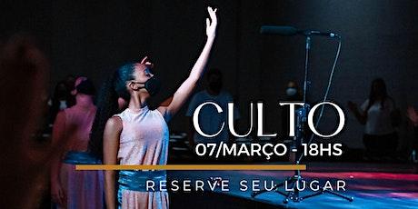 CULTO NOITE | Domingo 07/Março ingressos