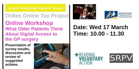 What Older People Think of Digital Access to GP Surgeries  -  Workshop tickets
