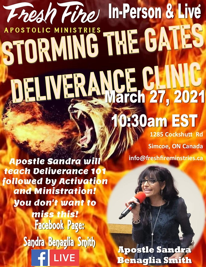 Fresh Fire Apostolic Ministries-Storming the Gates Deliverance Clinic image