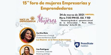 15vo  Foro de Mujeres Emprendedoras y Empresarias tickets