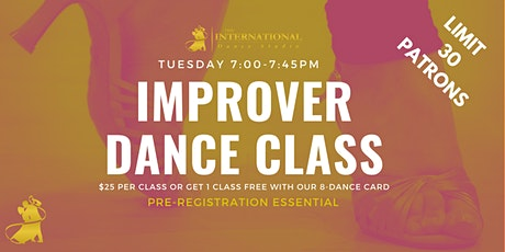 [APRIL 2021] Join the Adult Improver Dance Class! tickets