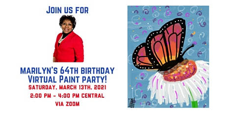 Marilyn's 64th Birthday - Virtual Paint Party! tickets