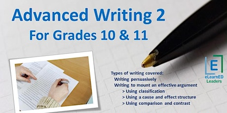 Advanced Writing II for Grades 10-11 (6 sessions) tickets
