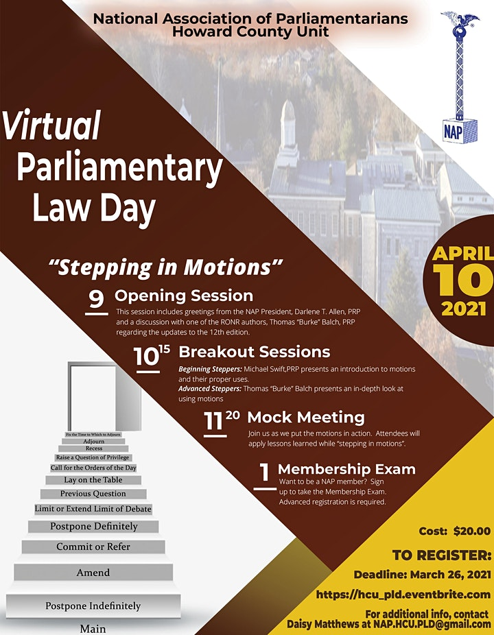 Parliamentary Law Day image