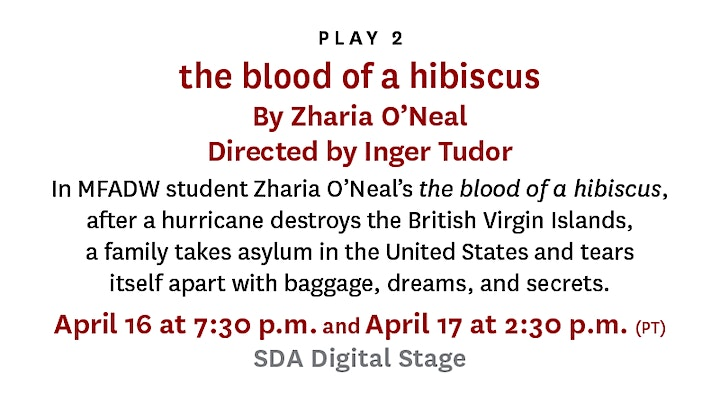USC School of Dramatic Arts New Work Festival II: the blood of a hibiscus image
