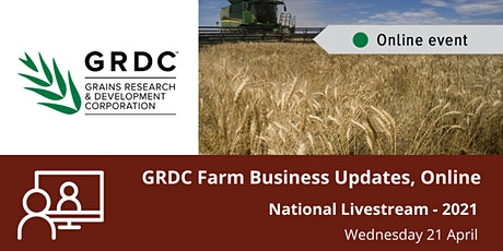 GRDC  National Farm Business Update Livestream - April 2021 tickets