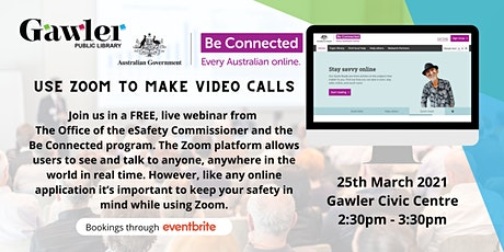 Be Connected Webinar: use Zoom to make video calls tickets