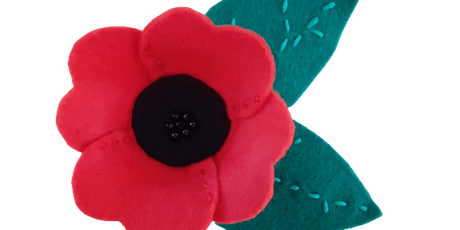 Omokoroa Library: Poppy Brooch Sewing Activity tickets