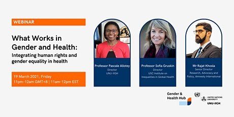 What Works Webinar: Integrating human rights and gender equality in health tickets