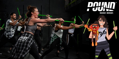 POUND Fitness Rockout Virtual Workout Online via Zoom with Leah Koch! tickets