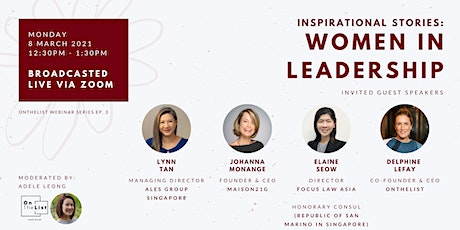 Inspirational Stories: Women in Leadership tickets