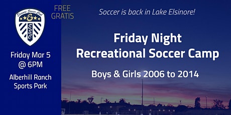 Friday Nite Recreational Soccer Camp tickets