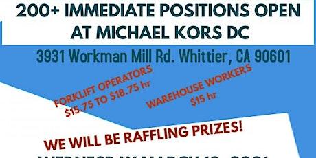 Job Fair for Michael Kors tickets
