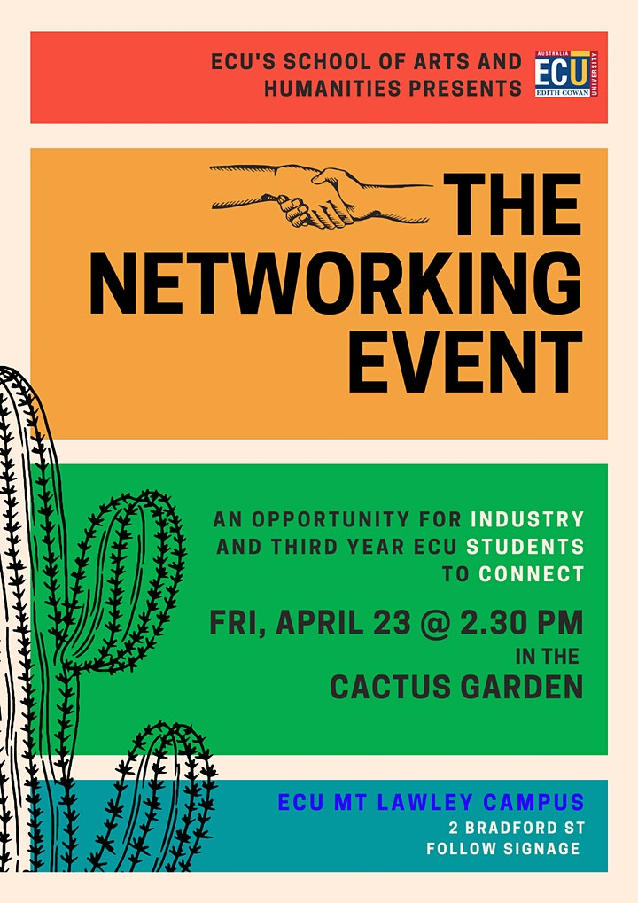 ECU School of Arts & Humanities Networking Event for Industry & Students image