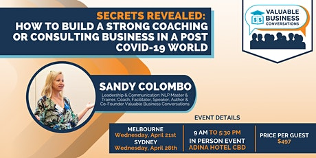 Secrets Revealed - How to Build a Strong Coaching Business tickets