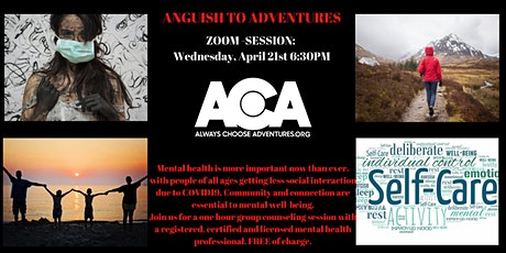 Anguish To Adventures - April Session tickets