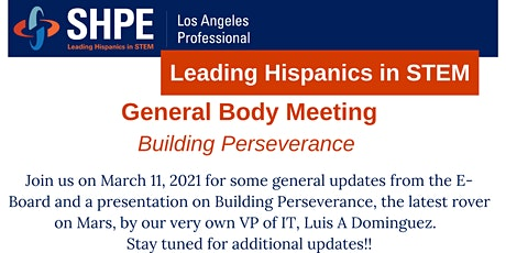 General Body Meeting - Building Perseverance tickets