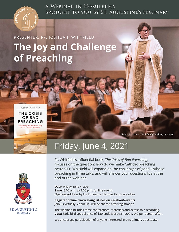 A Webinar in Homiletics:  The Joy and Challenge of Preaching image