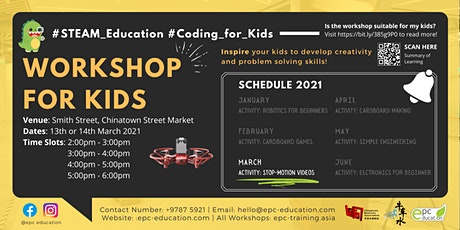 STEAM Coding/Making Workshops | STEAM Education [Ages 6-16]@Chinatown tickets