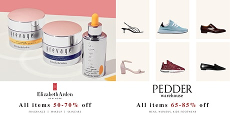 OnTheList Flash Sale - Elizabeth Arden, PEDDER Warehouse tickets