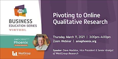 Pivoting to Online Qualitative Research tickets