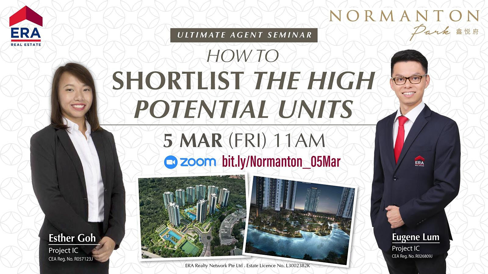 How to Shortlist the High Potential Units? (Normanton Park)