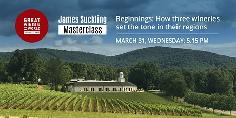 Great Wines of the World Masterclass: Beginnings: Wineries Who Set The Pace tickets