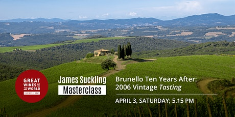 Great Wines of the World Masterclass: Brunello 2006 Vintage Tasting tickets